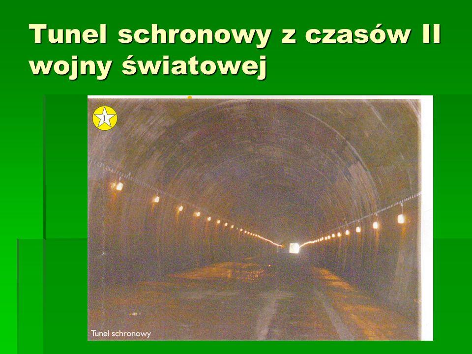 Tunel schronowy z czasów II wojny światowej