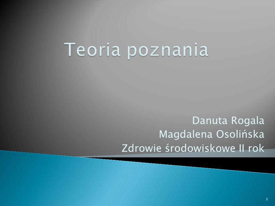 Danuta Rogala Magdalena Osolińska Zdrowie środowiskowe II rok