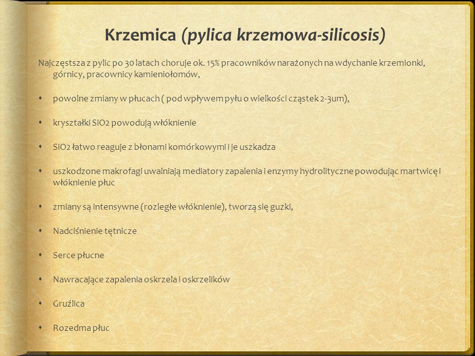 Krzemica (pylica krzemowa-silicosis)