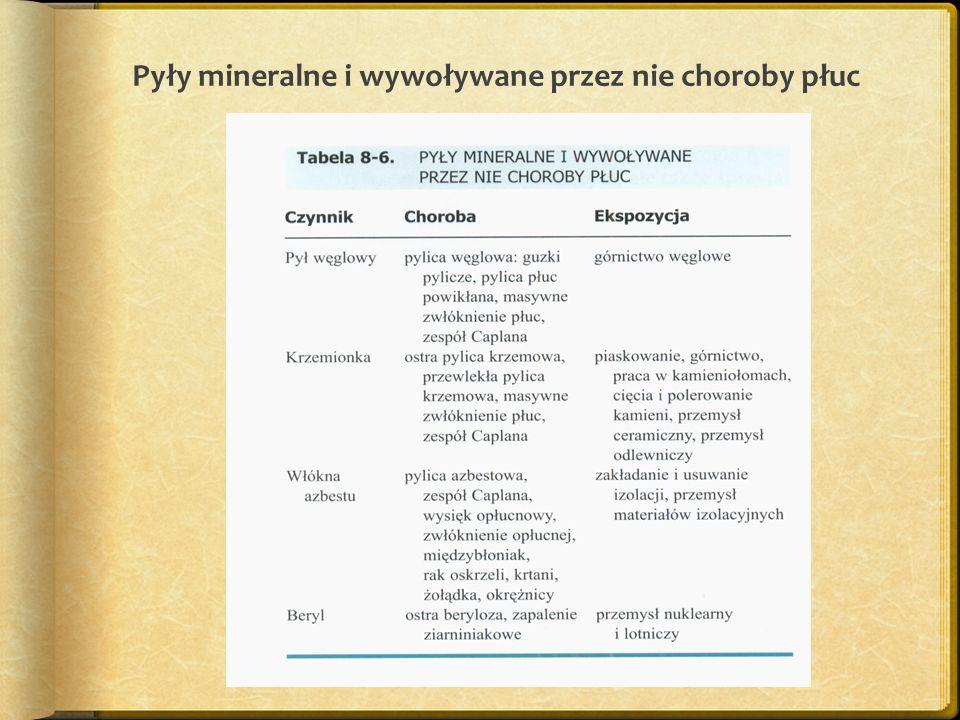 Pyły mineralne i wywoływane przez nie choroby płuc