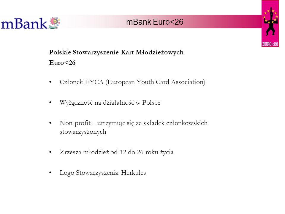 mBank Euro<26 Polskie Stowarzyszenie Kart Młodzieżowych Euro<26