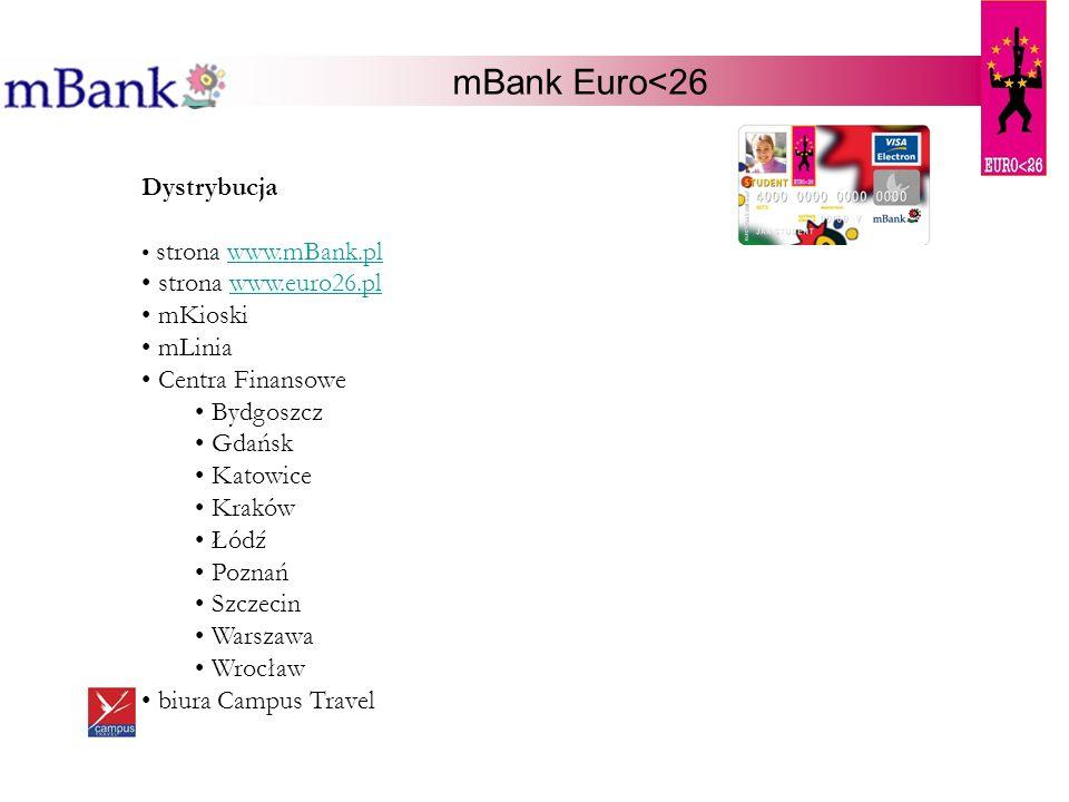 mBank Euro<26 Dystrybucja strona www.euro26.pl mKioski mLinia