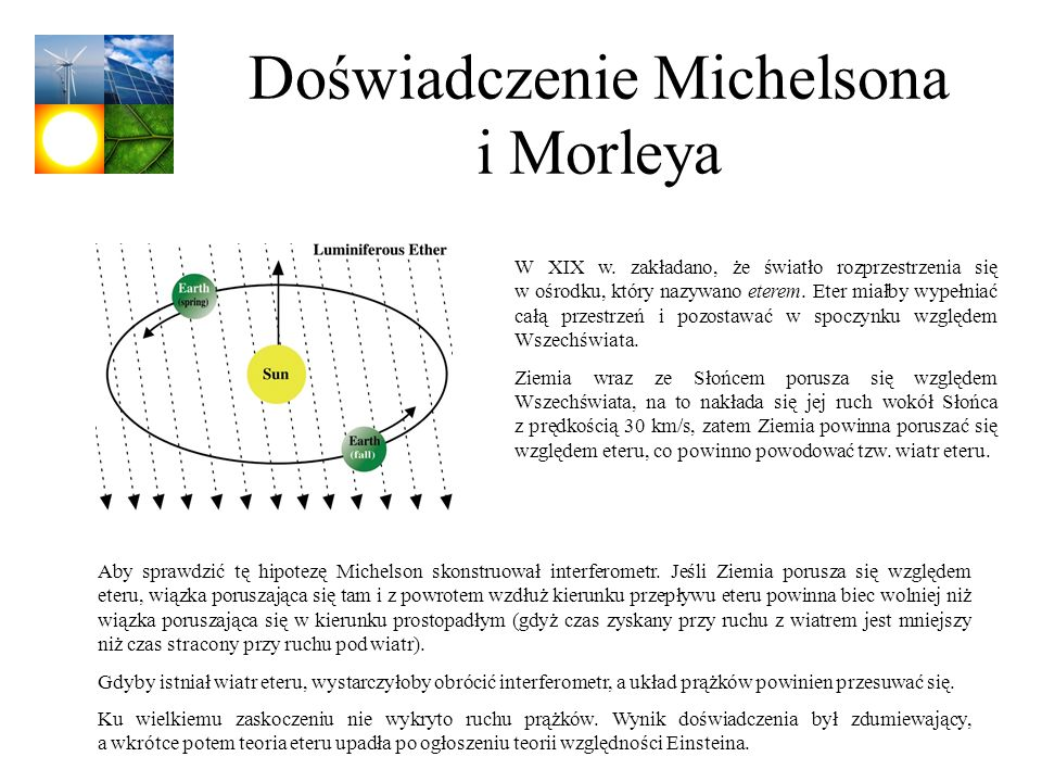 Doświadczenie Michelsona i Morleya