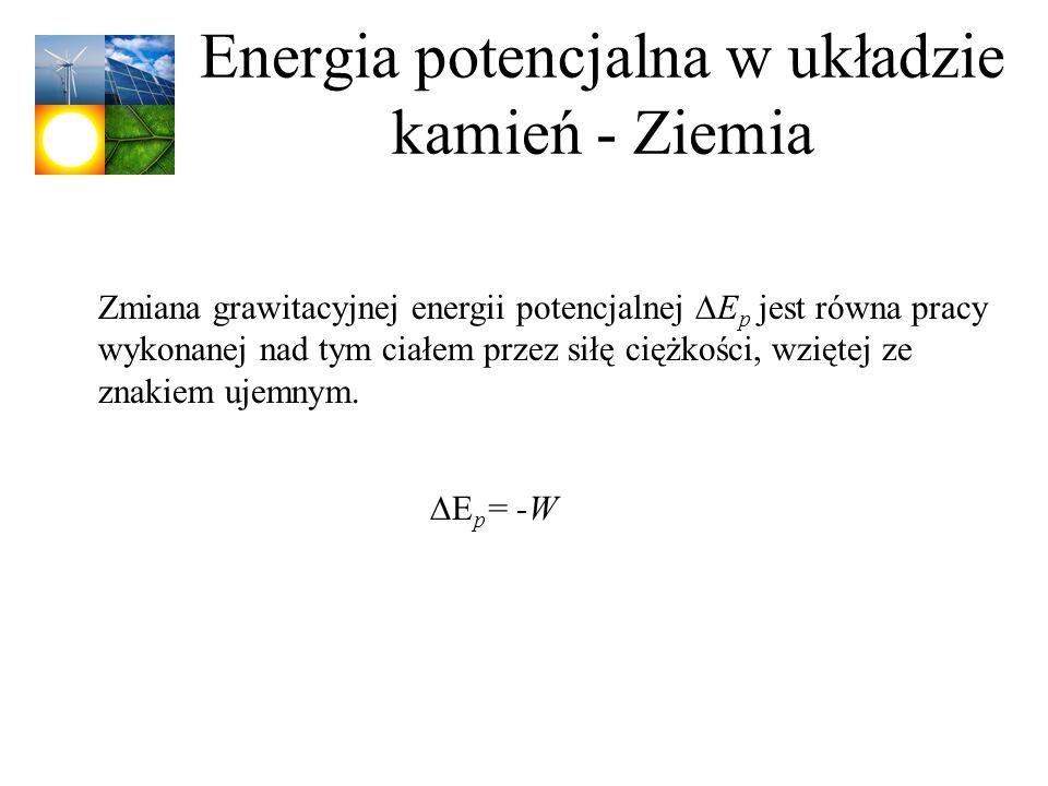 Energia potencjalna w układzie kamień - Ziemia
