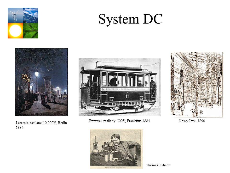 System DC Tramwaj zasilany 500V, Frankfurt 1884 Nowy Jork, 1890