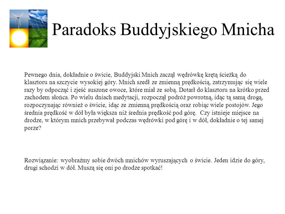 Paradoks Buddyjskiego Mnicha