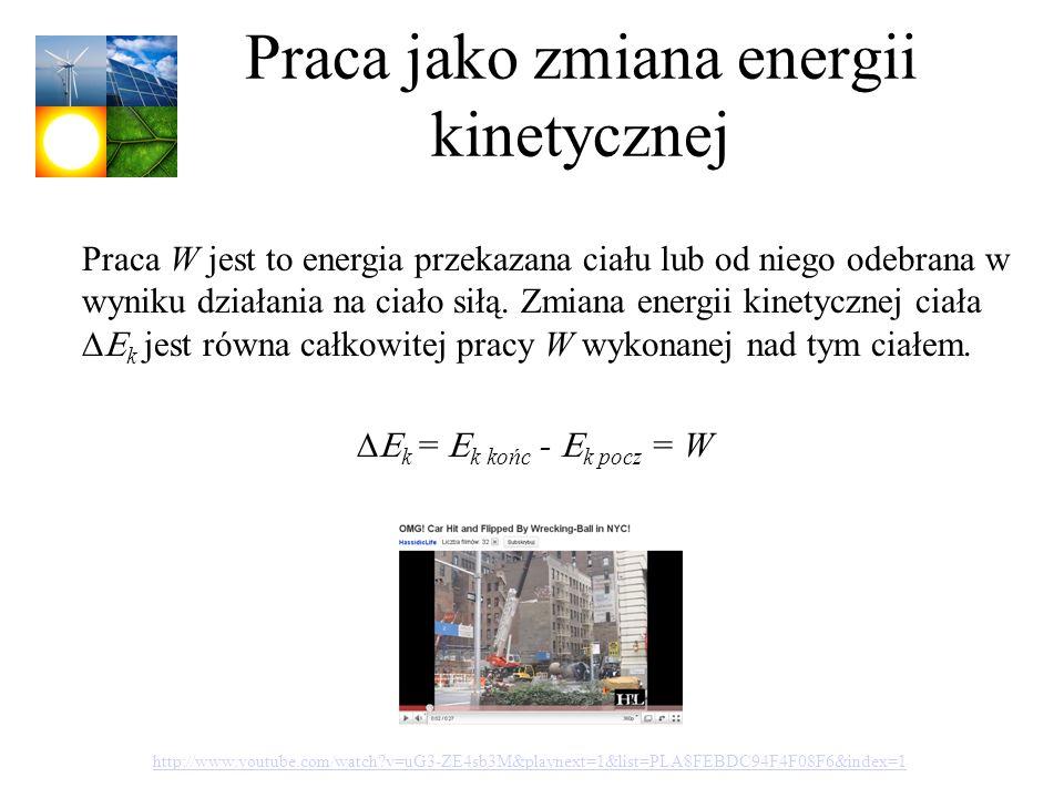 Praca jako zmiana energii kinetycznej