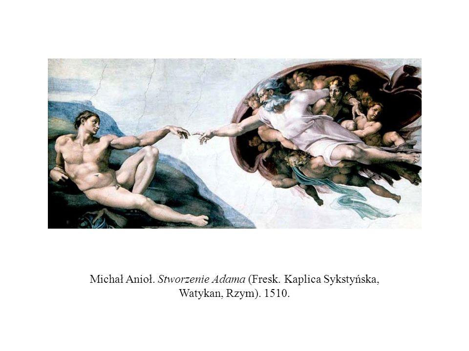 Michał Anioł. Stworzenie Adama (Fresk