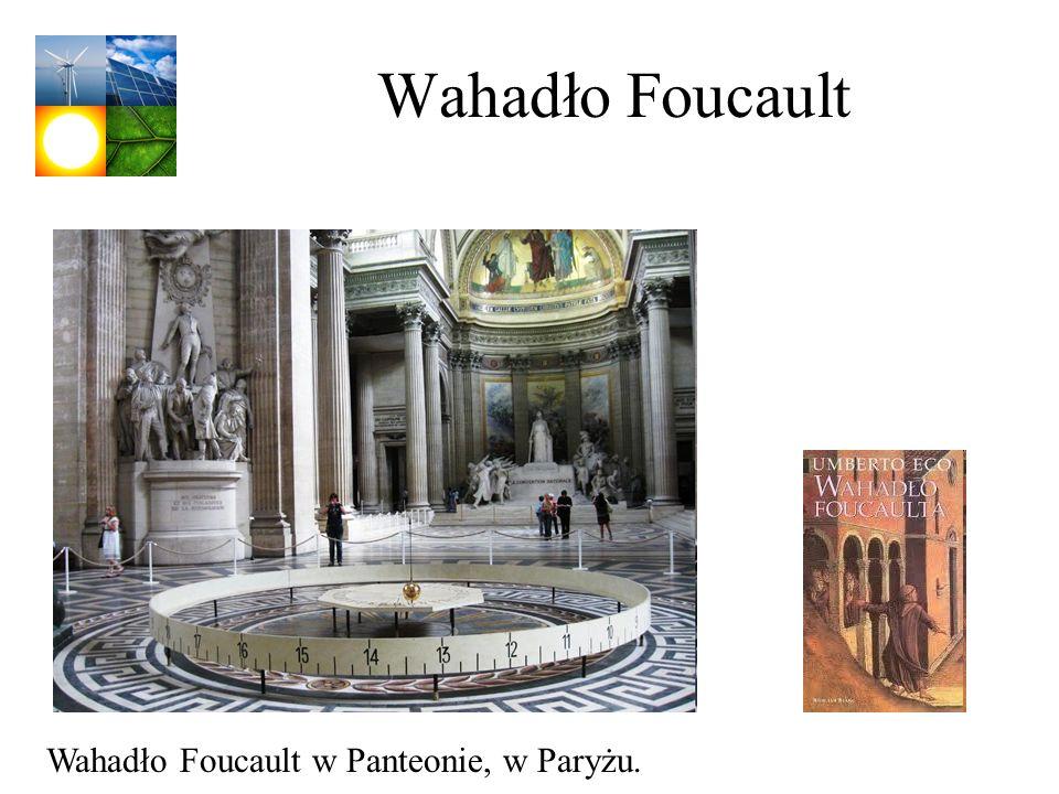 Wahadło Foucault Wahadło Foucault w Panteonie, w Paryżu.