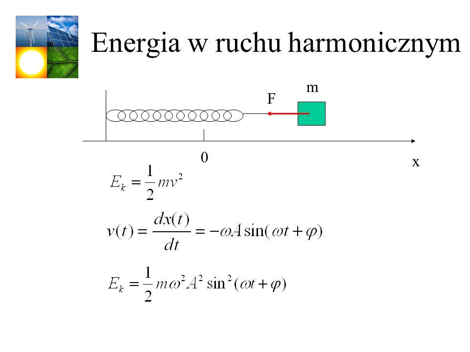 Energia w ruchu harmonicznym