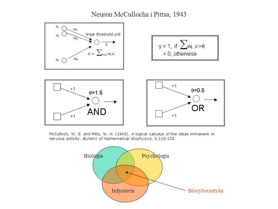 Neuron McCullocha i Pittsa, 1943
