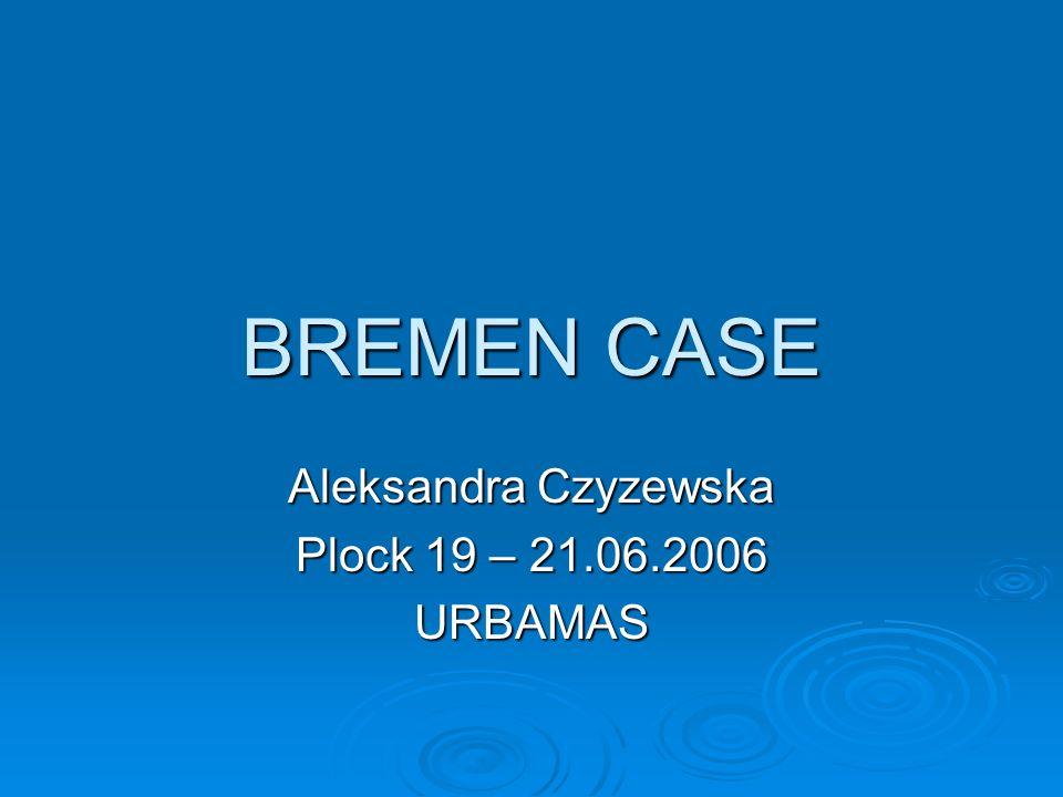 Aleksandra Czyzewska Plock 19 – 21.06.2006 URBAMAS