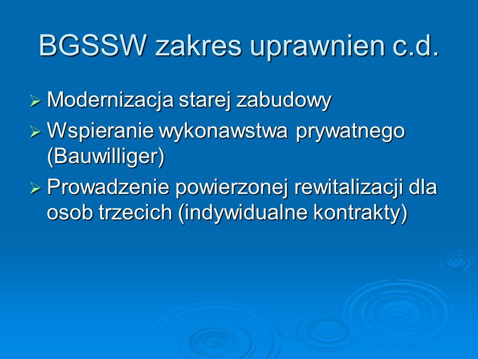 BGSSW zakres uprawnien c.d.