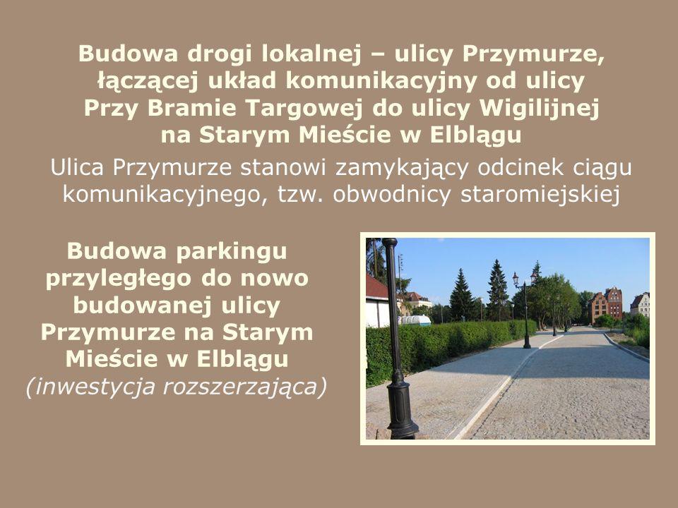 Budowa drogi lokalnej – ulicy Przymurze, łączącej układ komunikacyjny od ulicy Przy Bramie Targowej do ulicy Wigilijnej na Starym Mieście w Elblągu