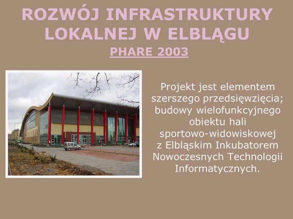 ROZWÓJ INFRASTRUKTURY LOKALNEJ W ELBLĄGU PHARE 2003