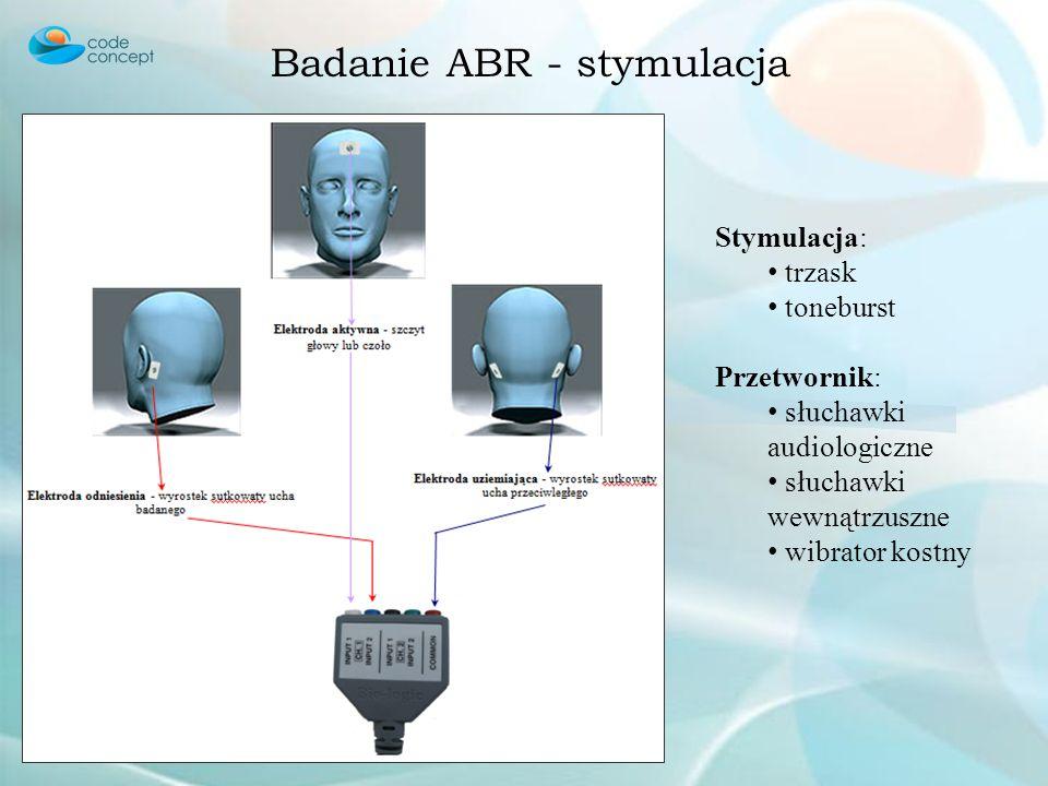 Badanie ABR - stymulacja
