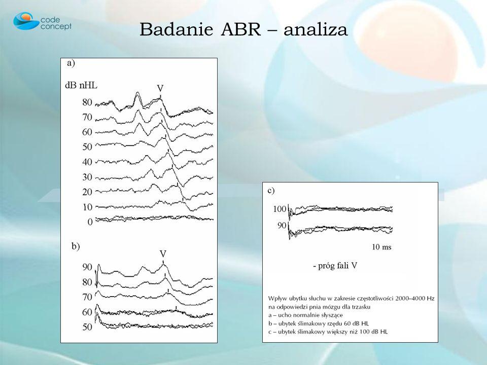 Badanie ABR – analiza