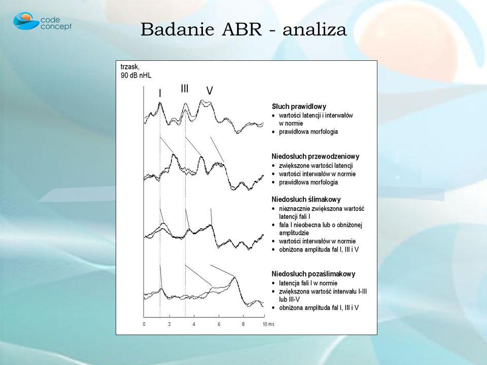 Badanie ABR - analiza