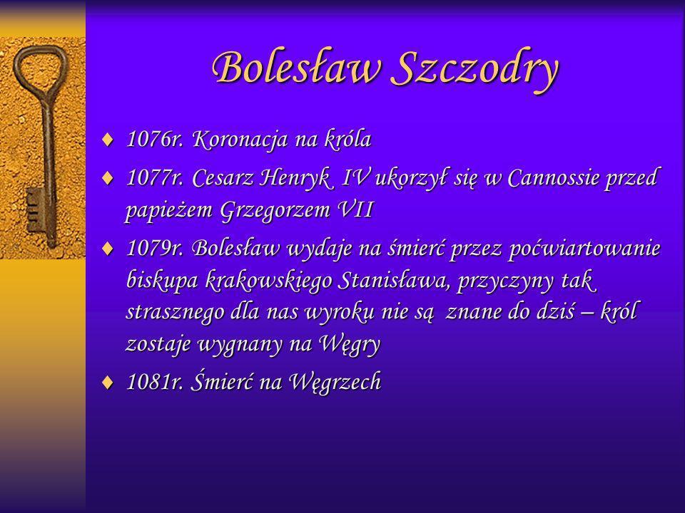 Bolesław Szczodry 1076r. Koronacja na króla