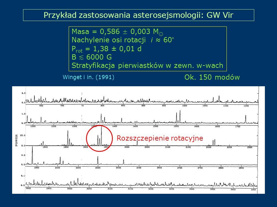 Przykład zastosowania asterosejsmologii: GW Vir