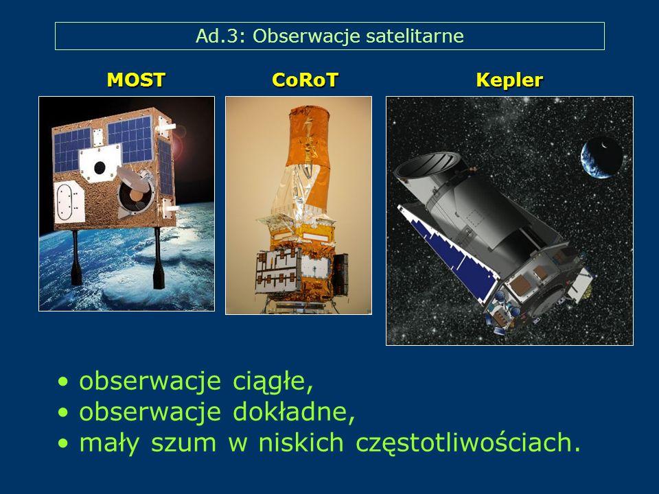 Ad.3: Obserwacje satelitarne