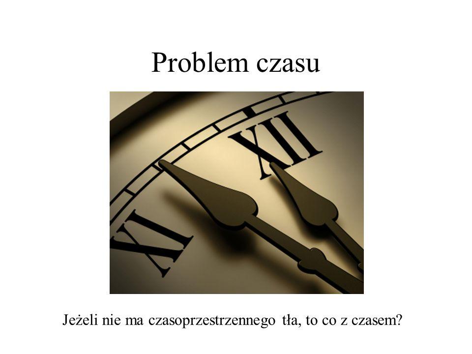 Problem czasu Jeżeli nie ma czasoprzestrzennego tła, to co z czasem