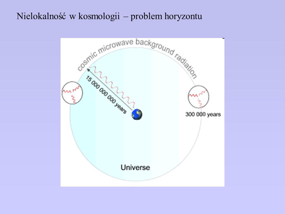 Nielokalność w kosmologii – problem horyzontu