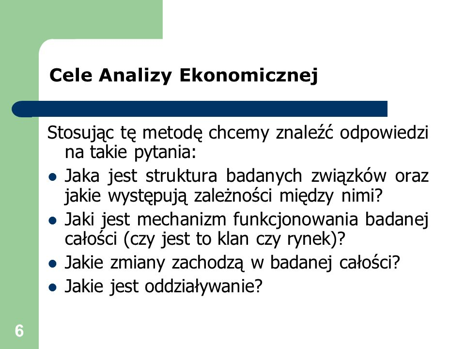 Cele Analizy Ekonomicznej