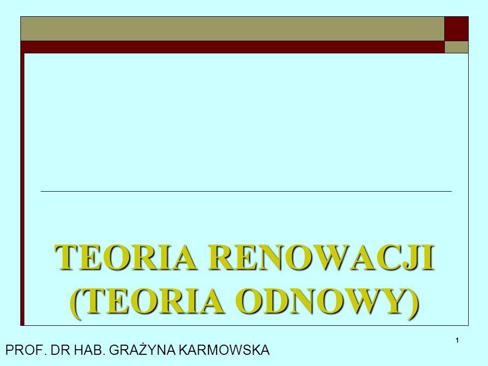 TEORIA RENOWACJI (TEORIA ODNOWY)