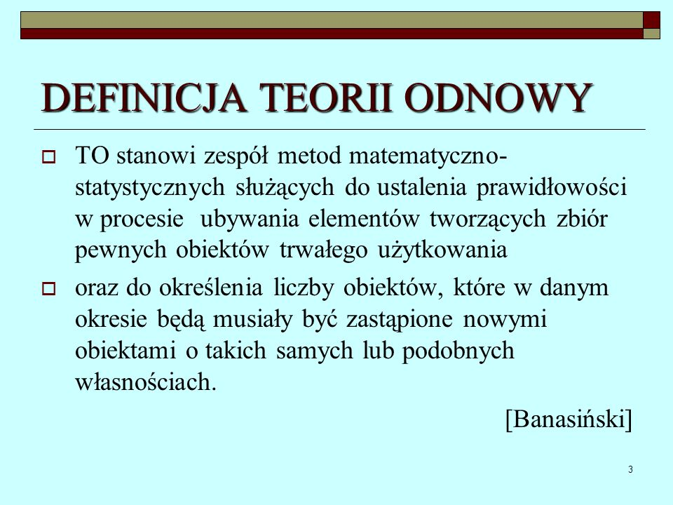 DEFINICJA TEORII ODNOWY