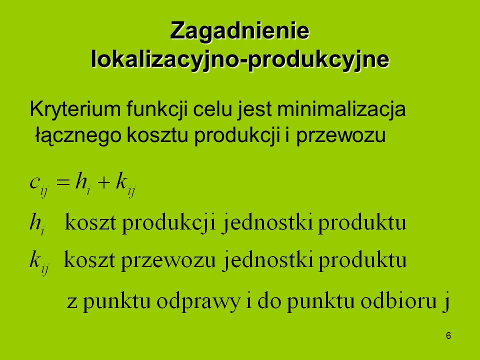 Zagadnienie lokalizacyjno-produkcyjne