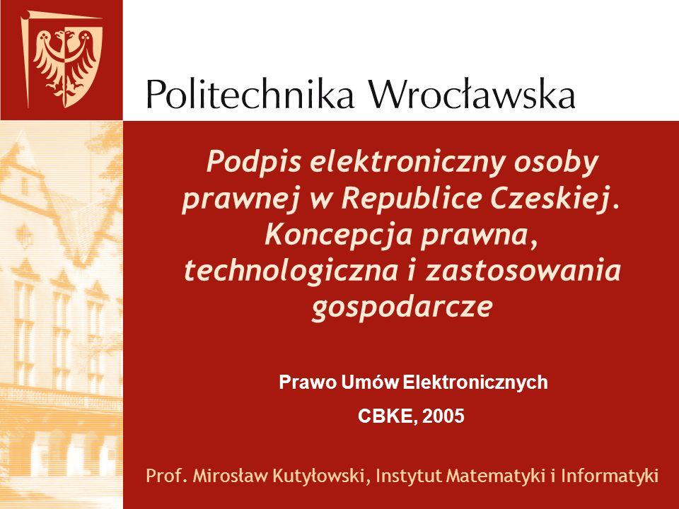 Prof. Mirosław Kutyłowski, Instytut Matematyki i Informatyki