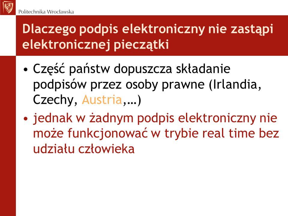 Dlaczego podpis elektroniczny nie zastąpi elektronicznej pieczątki