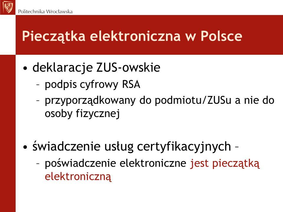 Pieczątka elektroniczna w Polsce