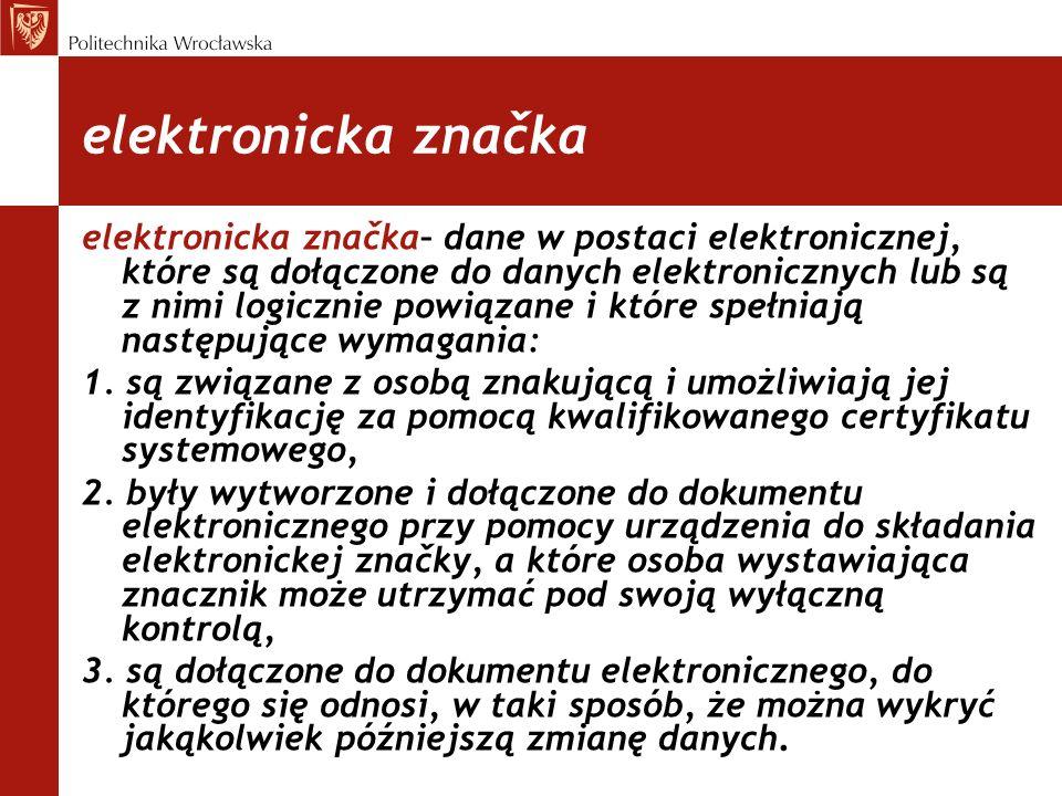 elektronicka značka
