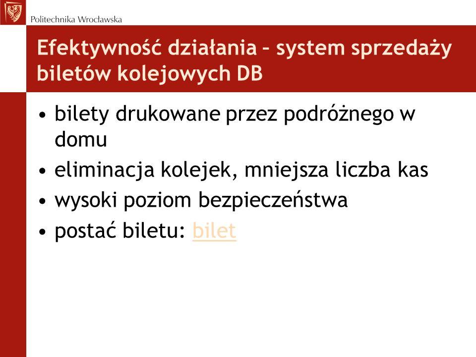 Efektywność działania – system sprzedaży biletów kolejowych DB