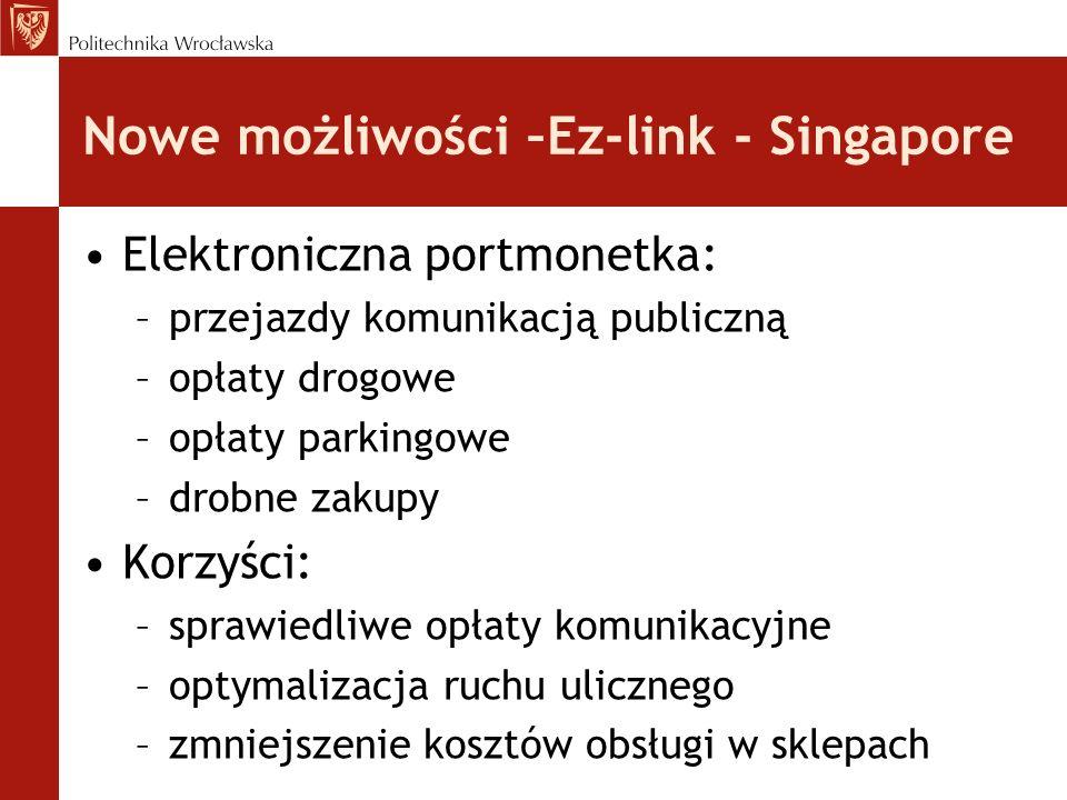 Nowe możliwości –Ez-link - Singapore