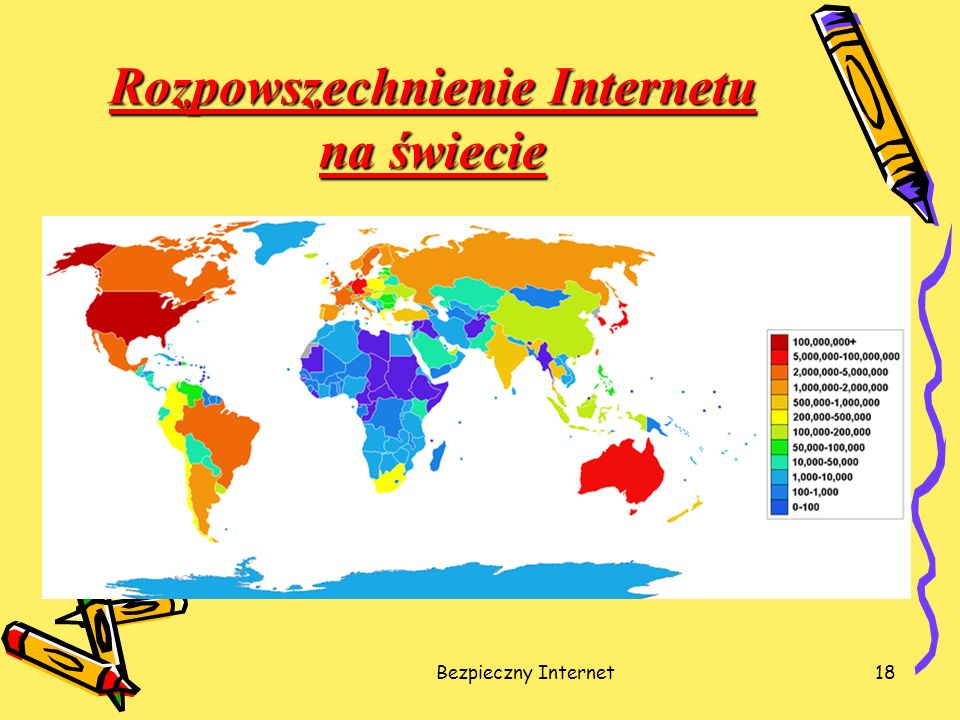 Rozpowszechnienie Internetu na świecie