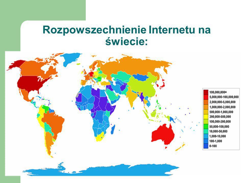 Rozpowszechnienie Internetu na świecie: