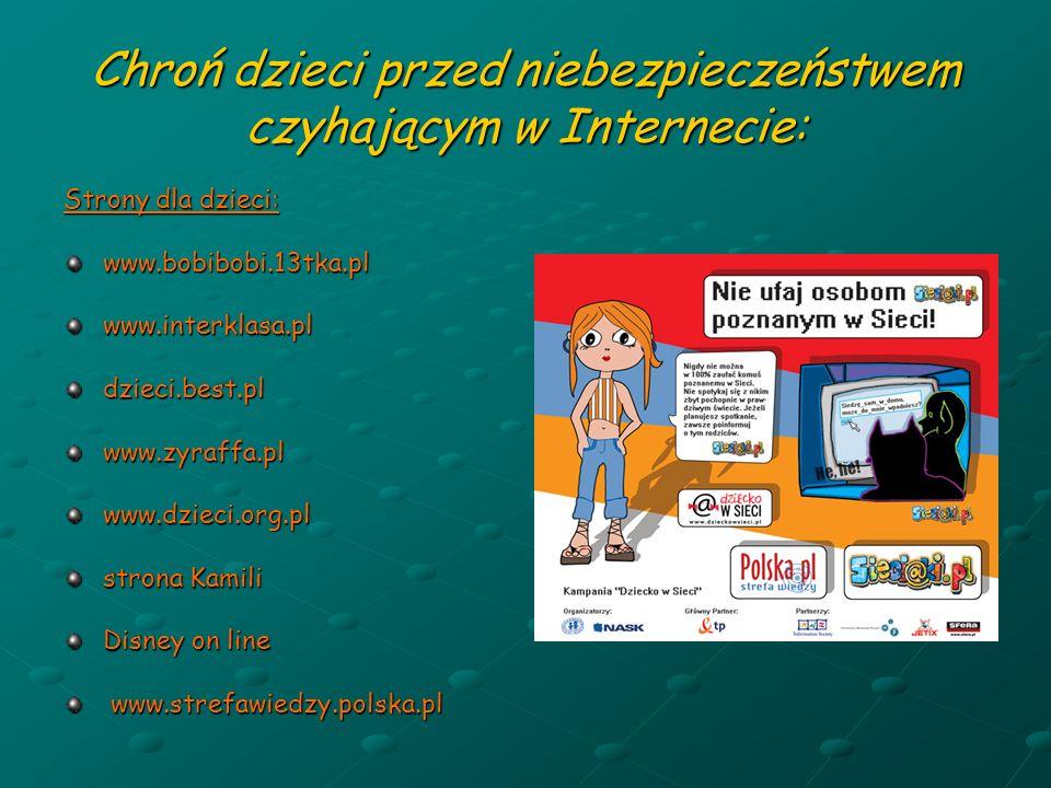 Chroń dzieci przed niebezpieczeństwem czyhającym w Internecie: