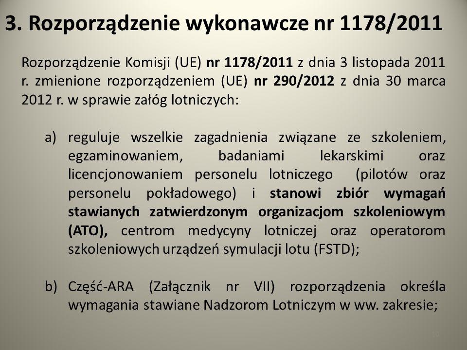 3. Rozporządzenie wykonawcze nr 1178/2011
