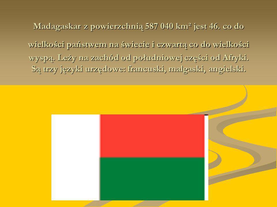 Madagaskar z powierzchnią 587 040 km² jest 46