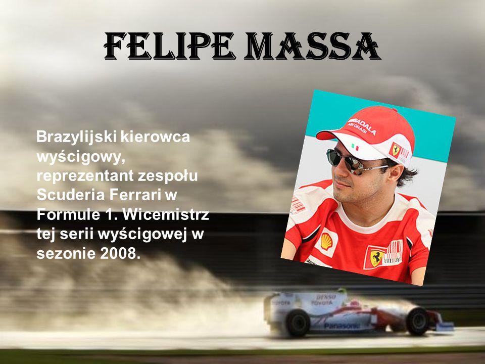 Felipe Massa Brazylijski kierowca wyścigowy, reprezentant zespołu Scuderia Ferrari w Formule 1.