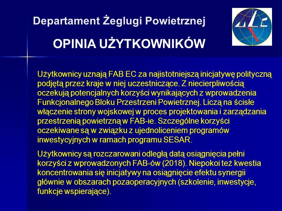OPINIA UŻYTKOWNIKÓW Departament Żeglugi Powietrznej