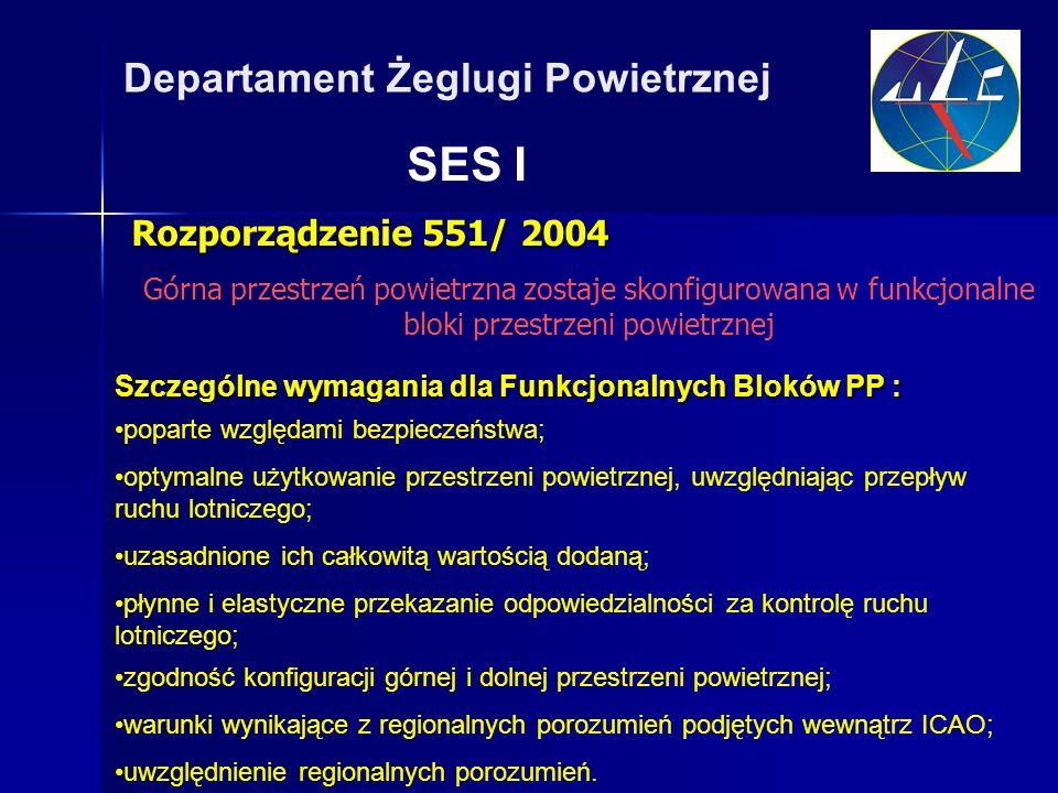 SES I Departament Żeglugi Powietrznej Rozporządzenie 551/ 2004