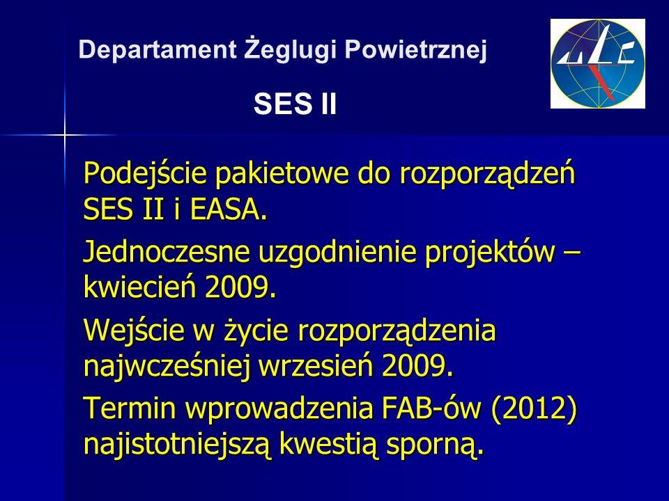 Podejście pakietowe do rozporządzeń SES II i EASA.