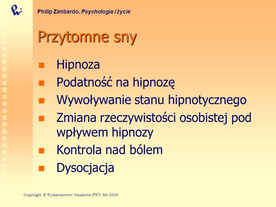 Przytomne sny Hipnoza Podatność na hipnozę