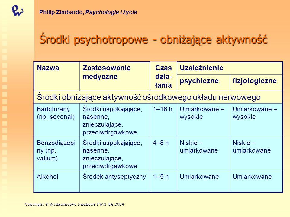 Środki psychotropowe - obniżające aktywność