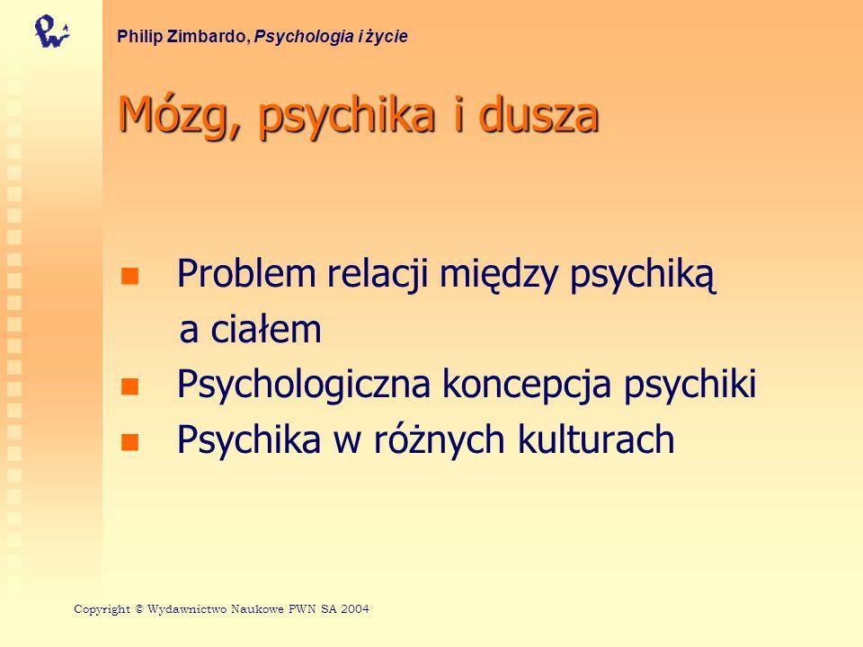 Mózg, psychika i dusza Problem relacji między psychiką a ciałem