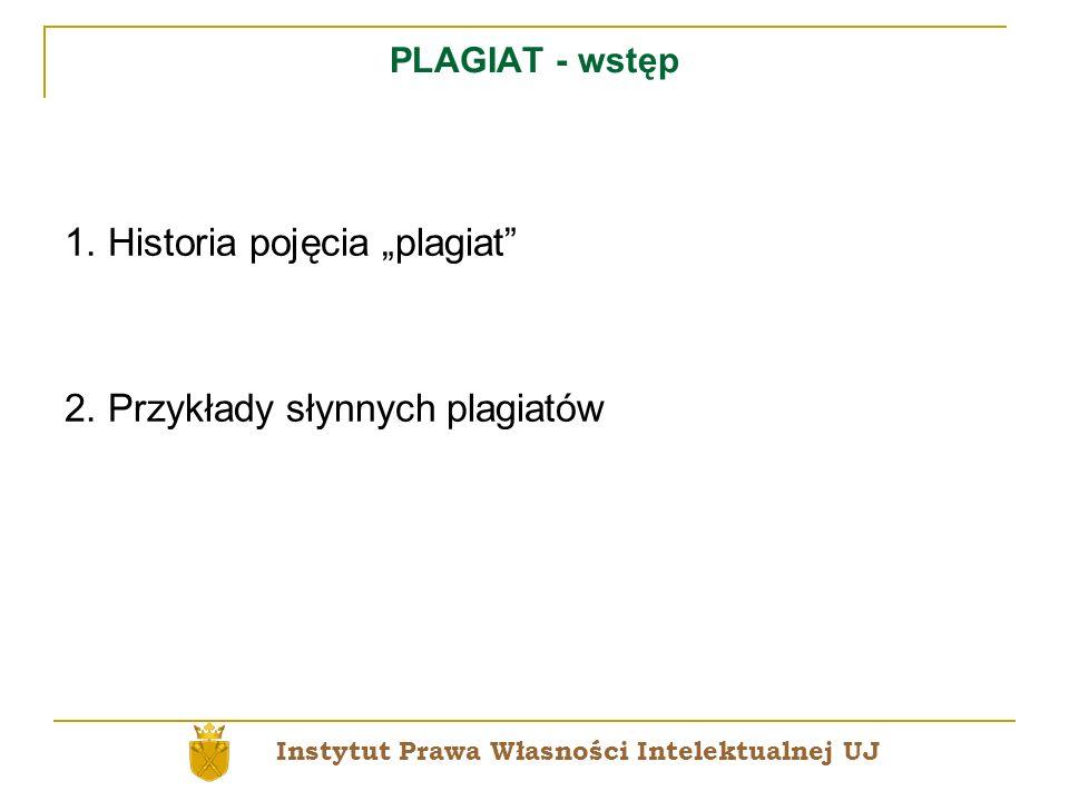 "1. Historia pojęcia ""plagiat"